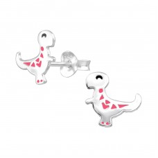 Dinosaur - 925 Sterling Silver Colorful ear studs for kids A4S38089