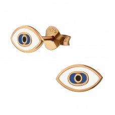 Evil Eye - 925 Sterling Silver Colorful earrings for kids A4S38193