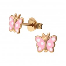 Butterfly - 925 Sterling Silver Colorful ear studs for kids A4S38211