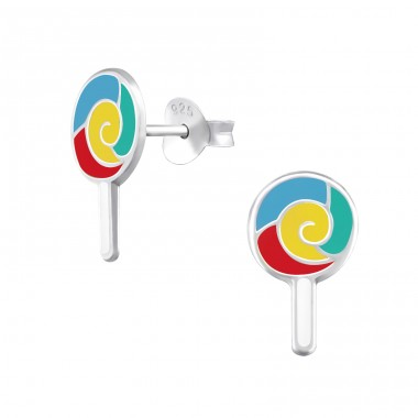 Lollypop - 925 Sterling Silver Colorful earrings for kids A4S38229