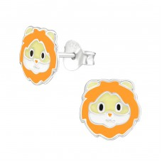 Lion - 925 Sterling Silver Colorful ear studs for kids A4S38231