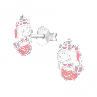 Mermicorn - 925 Sterling Silver Colorful earrings for kids A4S38236