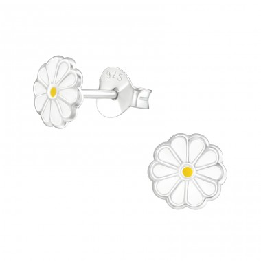 Flower - 925 Sterling Silver Colorful ear studs for kids A4S38237
