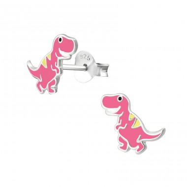 Dinosaur - 925 Sterling Silver Colorful ear studs for kids A4S38259