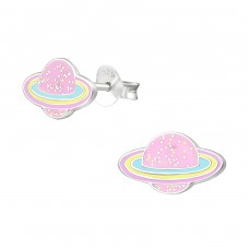 Planet - 925 Sterling Silver Colorful ear studs for kids A4S38262