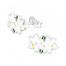 Jasmine - 925 Sterling Silver Colorful earrings for kids A4S38290