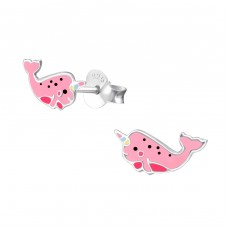 Whalecorn - 925 Sterling Silver Colorful earrings for kids A4S38292
