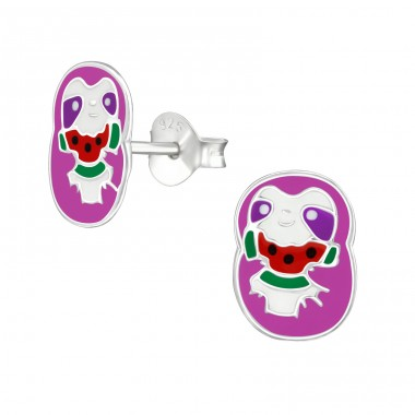 Sloth - 925 Sterling Silver Colorful earrings for kids A4S38503