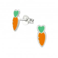 Carrot - 925 Sterling Silver Colorful ear studs for kids A4S38527