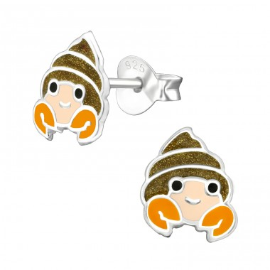 Hermit Crab - 925 Sterling Silver Colorful ear studs for kids A4S38528
