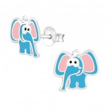 Elephant - 925 Sterling Silver Colorful ear studs for kids A4S38577