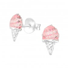 Ice Cream - 925 Sterling Silver Colorful ear studs for kids A4S38640