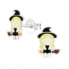 Witch - 925 Sterling Silver Colorful ear studs for kids A4S38666