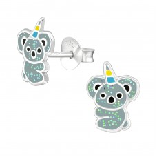 Koalacorn - 925 Sterling Silver Colorful ear studs for kids A4S38669
