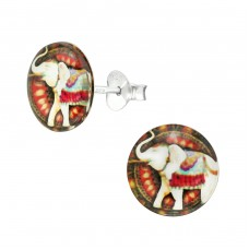 Elephant - 925 Sterling Silver Colorful ear studs for kids A4S38747