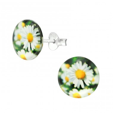 Daisy - 925 Sterling Silver Colorful ear studs for kids A4S38748