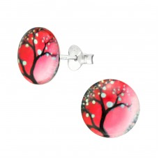 Sakura Tree - 925 Sterling Silver Colorful ear studs for kids A4S38750
