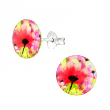 Daisy - 925 Sterling Silver Colorful ear studs for kids A4S38757