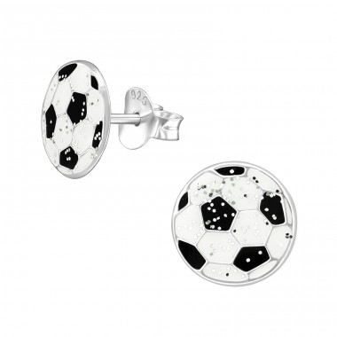 Ball - 925 Sterling Silver Colorful ear studs for kids A4S39013