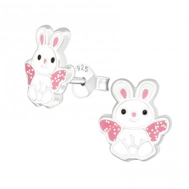 Rabbit - 925 Sterling Silver Colorful ear studs for kids A4S39140