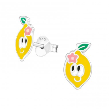 Lemon - 925 Sterling Silver Colorful ear studs for kids A4S39141
