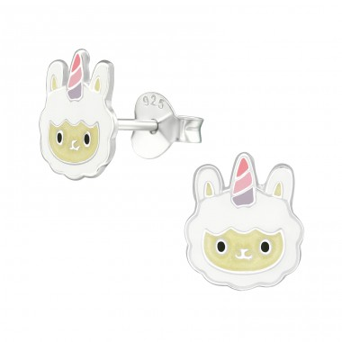 Sheepcorn - 925 Sterling Silver Colorful ear studs for kids A4S39144