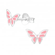 Butterfly - 925 Sterling Silver Colorful ear studs for kids A4S39284