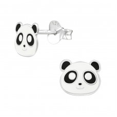 Panda - 925 Sterling Silver Colorful ear studs for kids A4S39286