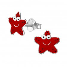 Starfish - 925 Sterling Silver Colorful ear studs for kids A4S39418