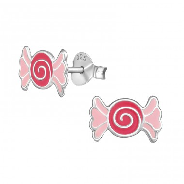 Candy - 925 Sterling Silver Colorful ear studs for kids A4S39428