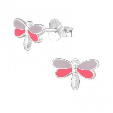Dragonfly - 925 Sterling Silver Colorful ear studs for kids A4S39485