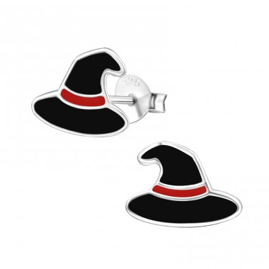 Witch Hat - 925 Sterling Silver Colorful ear studs for kids A4S39634