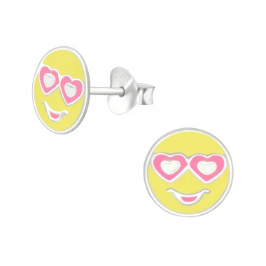 Emoji Love - 925 Sterling Silver Colorful ear studs for kids A4S39640