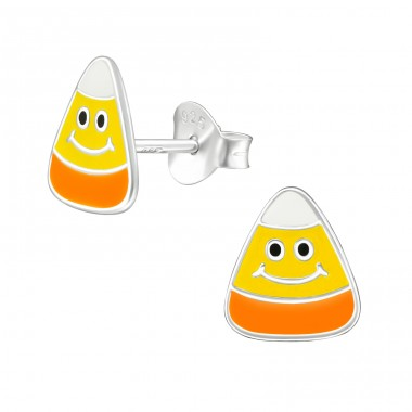 Onigiri - 925 Sterling Silver Colorful ear studs for kids A4S39769