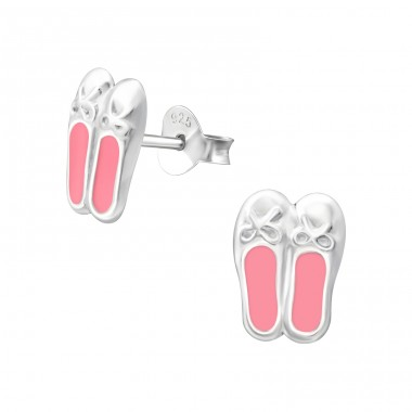 Ballerina Shoes - 925 Sterling Silver Colorful ear studs for kids A4S39841