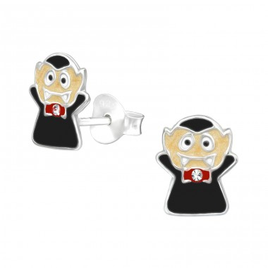 Vampire - 925 Sterling Silver Ear studs with enamel colors A4S39993