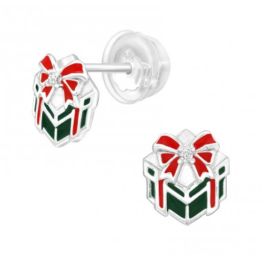 Gifts - 925 Sterling Silver Ear Studs with Zirconia stones A4S40385