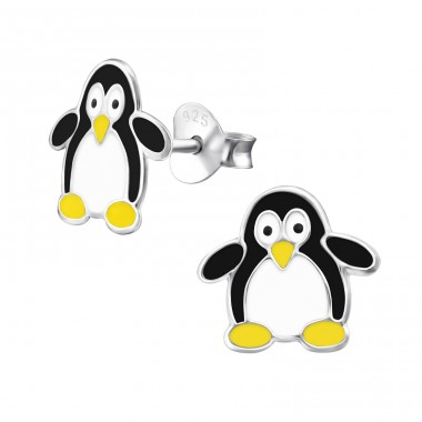 Penguin - 925 Sterling Silver Colorful ear studs for kids A4S4055
