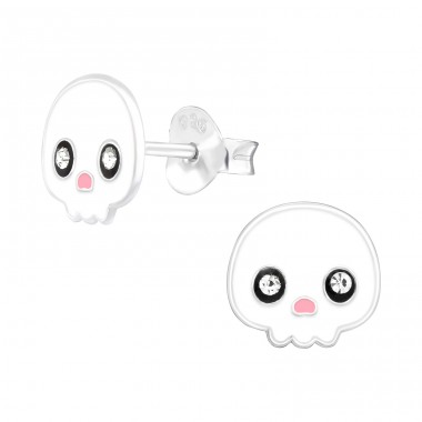 Ghost - 925 Sterling Silver Ear studs with crystals A4S41512