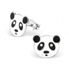 Panda - 925 Sterling Silver Colorful ear studs for kids A4S4744