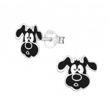 Dog - 925 Sterling Silver Colorful ear studs for kids A4S4972