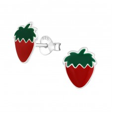 Strawberry - 925 Sterling Silver Colorful ear studs for kids A4S5149