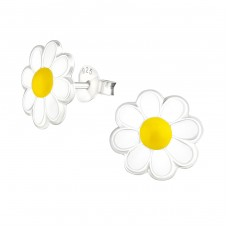 Flower - 925 Sterling Silver Colorful ear studs for kids A4S5285