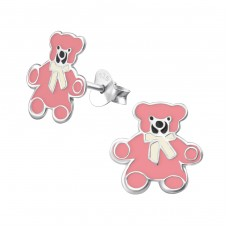 Teddy Bear - 925 Sterling Silver Colorful ear studs for kids A4S5286