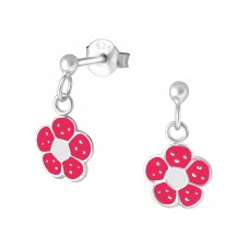 Flower - 925 Sterling Silver Colorful ear studs for kids A4S5301