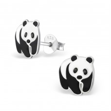 Panda - 925 Sterling Silver Colorful ear studs for kids A4S7391