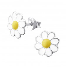 Daisy - 925 Sterling Silver Colorful ear studs for kids A4S9215