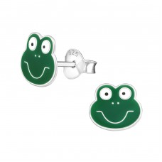 Frog - 925 Sterling Silver Colorful ear studs for kids A4S958