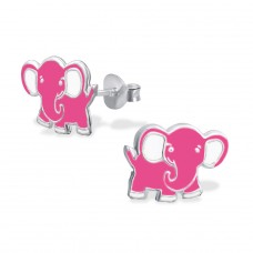 Elephant - 925 Sterling Silver Colorful ear studs for kids A4S966