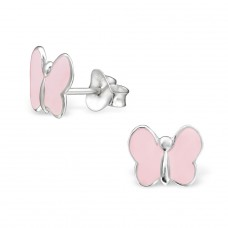 Butterfly - 925 Sterling Silver Colorful ear studs for kids A4S983